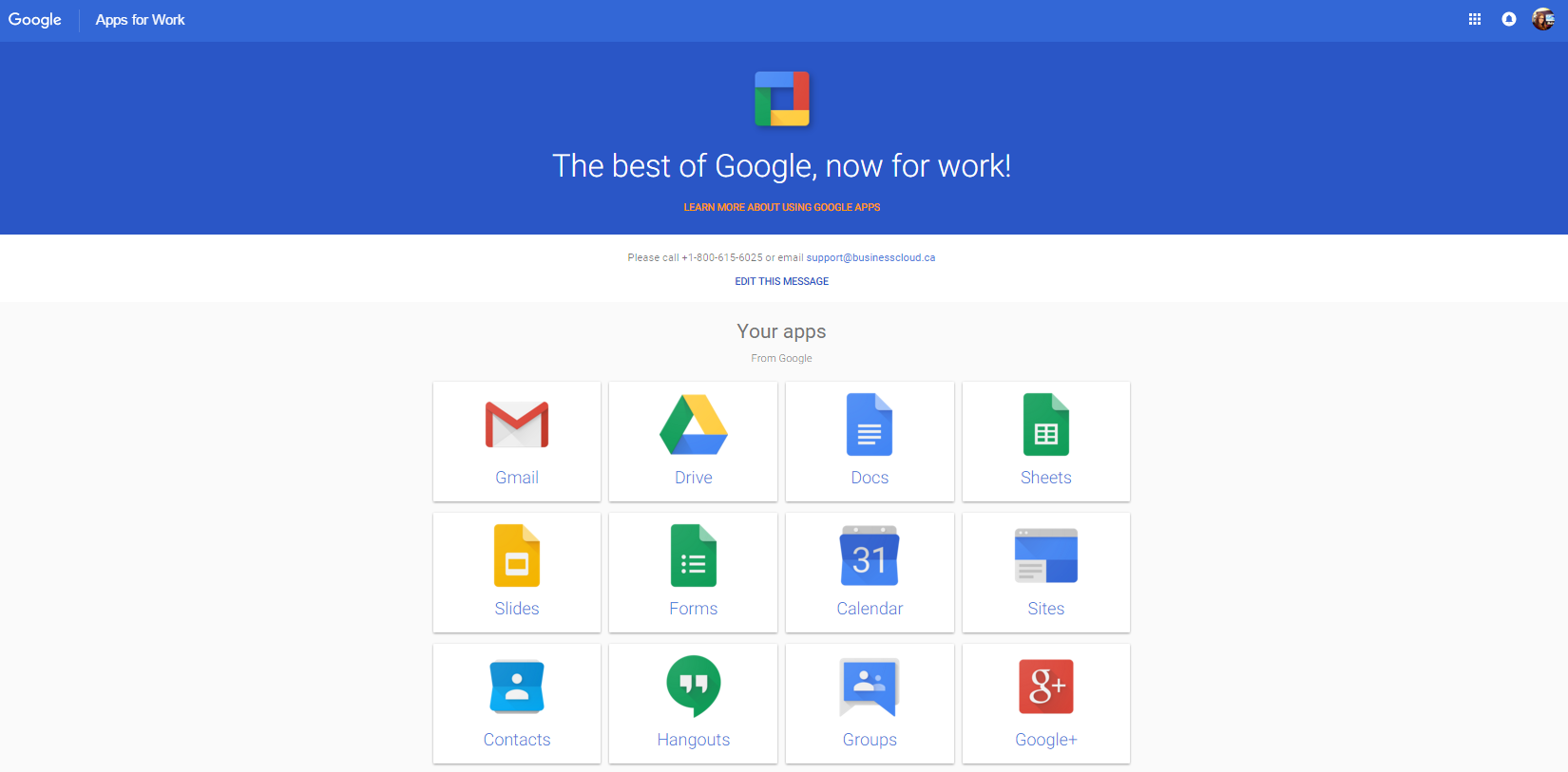 The New Apps Launcher Landing Page Business Cloud Inc